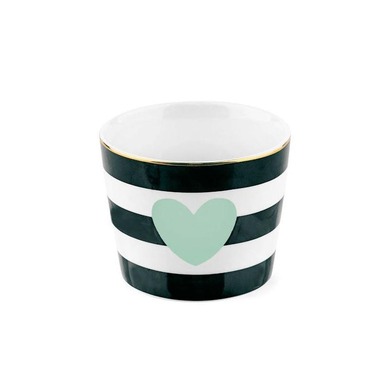 Bol de cerámica con rayas diagonales oro Miss Etoile [CLONE] [CLONE]