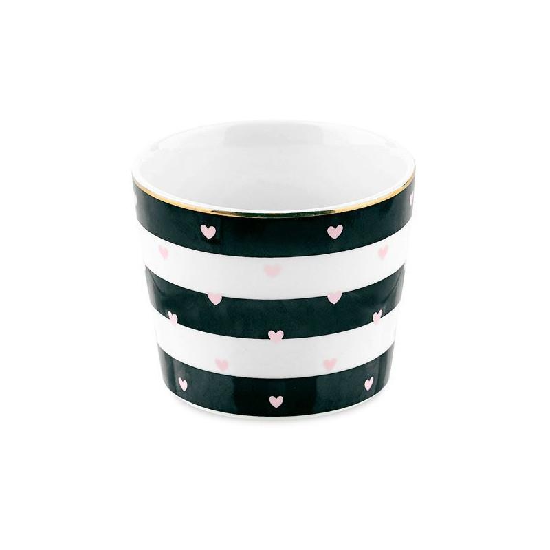 Bol de cerámica con rayas diagonales oro Miss Etoile [CLONE] [CLONE] [CLONE]
