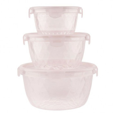 Pack de 3 Tuppers redondos rosa Miss Etoile