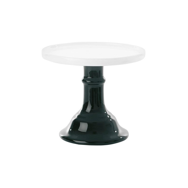 Cake Stand de cerámica 15 cm Blanco y Negro Miss Etoile