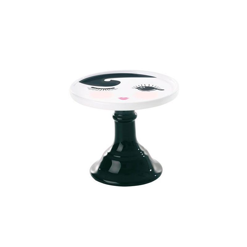Cake Stand de cerámica 15 cm Blanco y Negro Miss Etoile [CLONE]