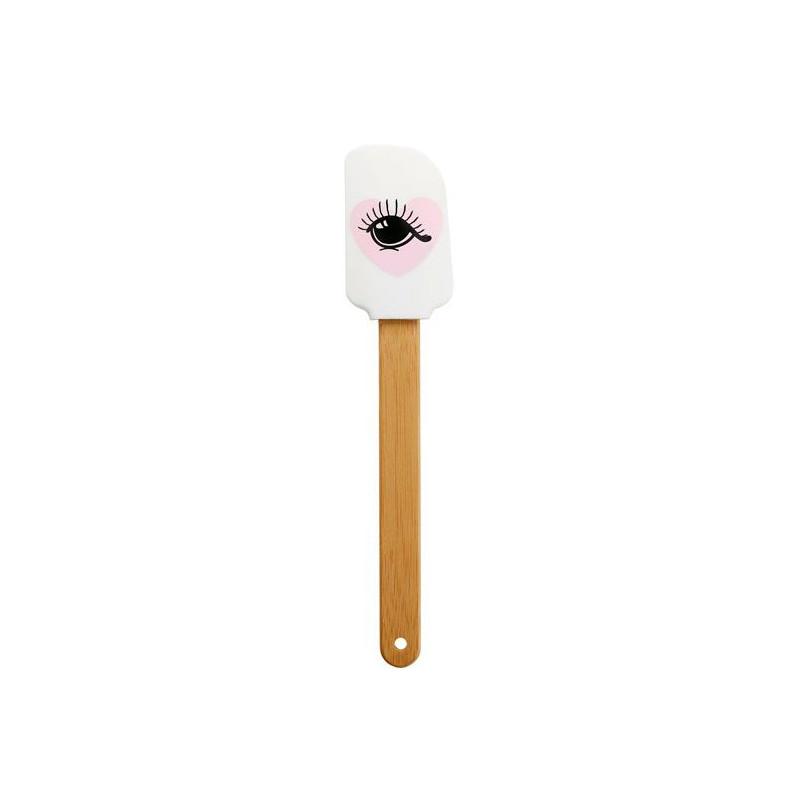 Espátula lengua Rayas negras corazón rosa Miss Etoile [CLONE] [CLONE]