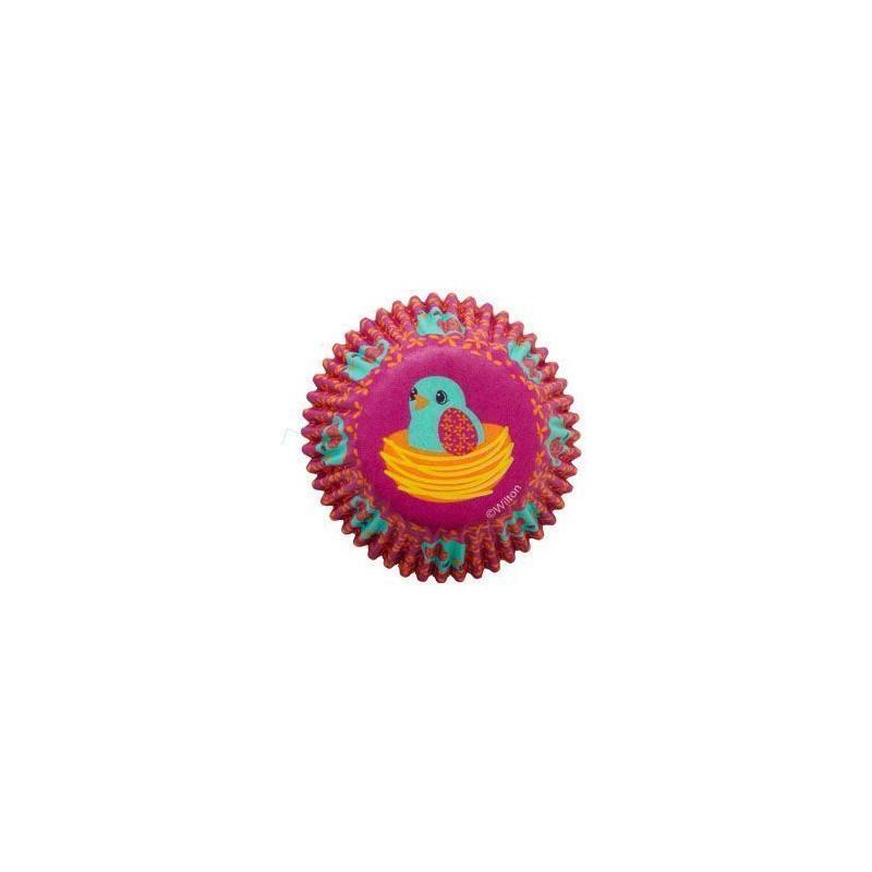 Capsulas cupcakes mini Pajarito en su nido Wilton