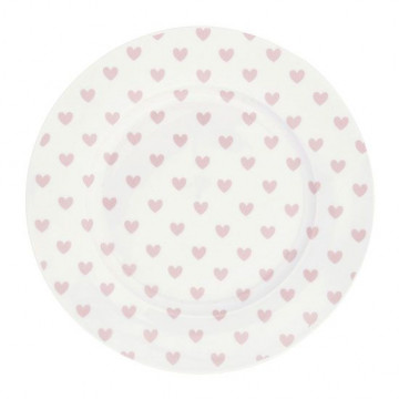 Plato de cerámica 17 cm Corazones Rosa Miss Etoile