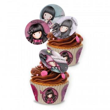 Papel de azúcar para cupcakes 16 unidades Gorjuss
