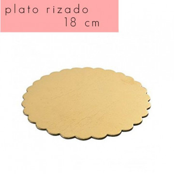 Bandeja plato borde rizado 18 cm