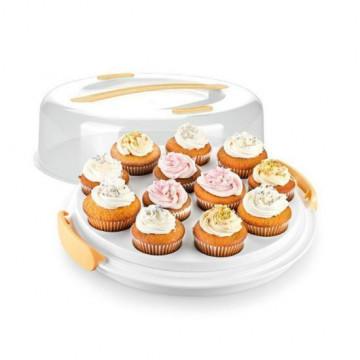 Caja transportadora para 12 cupcakes y tarta Tescoma