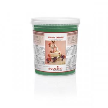 Pasta de modelar verde 1kg Saracino