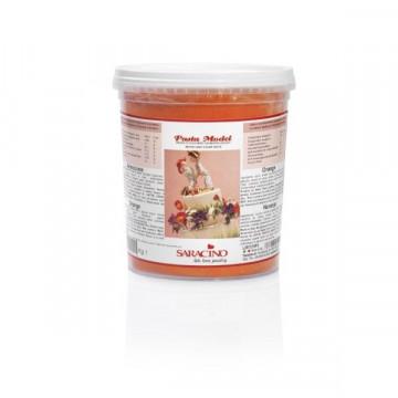 Pasta de modelar naranja 1kg Saracino