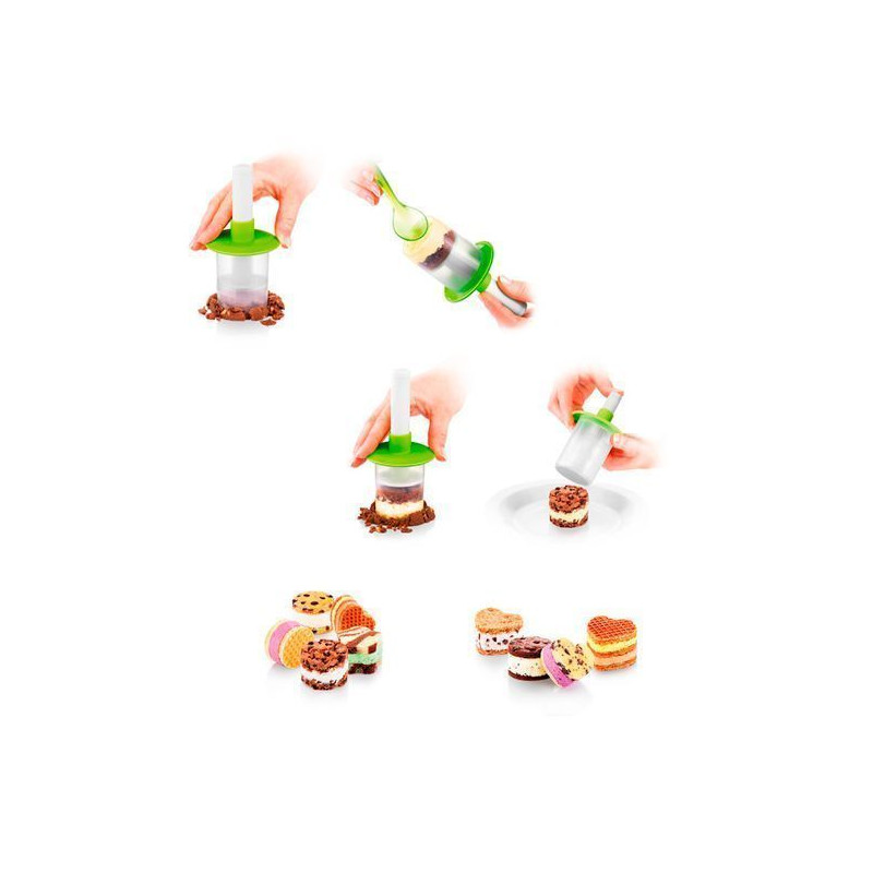 Pack de 3 accesorio para Sandwhich de Helado Tescoma