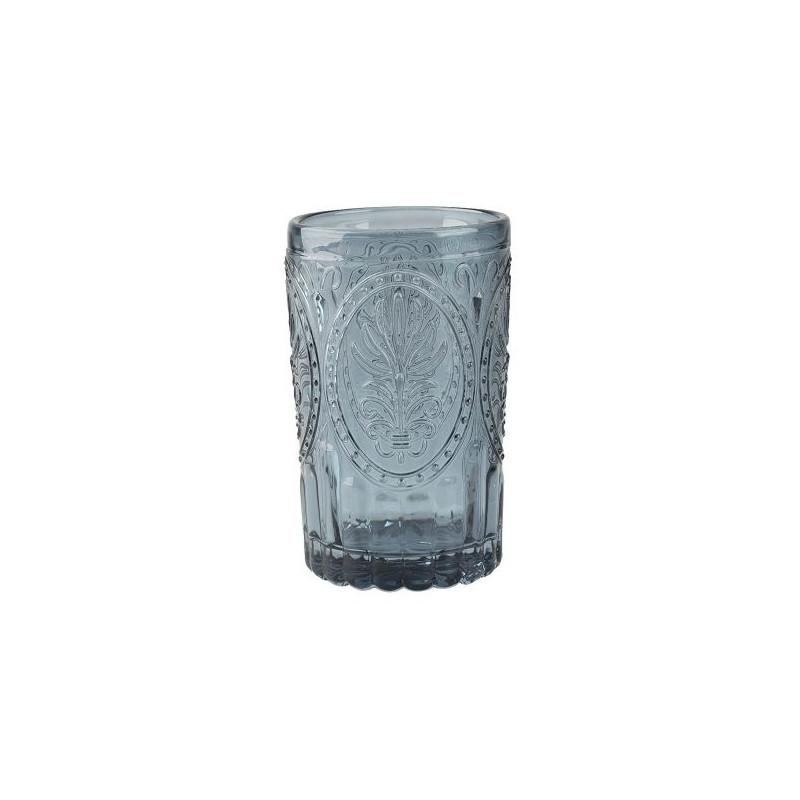 Vaso de cristal labrado Azul Festival Folk Katie Alice