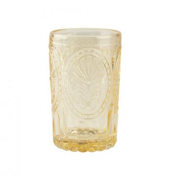 Vaso de cristal labrado Amarillo Festival Folk Katie Alice