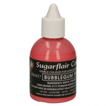 Colorante para aerógrafo Rosa Chicle 60ml Sugarflair