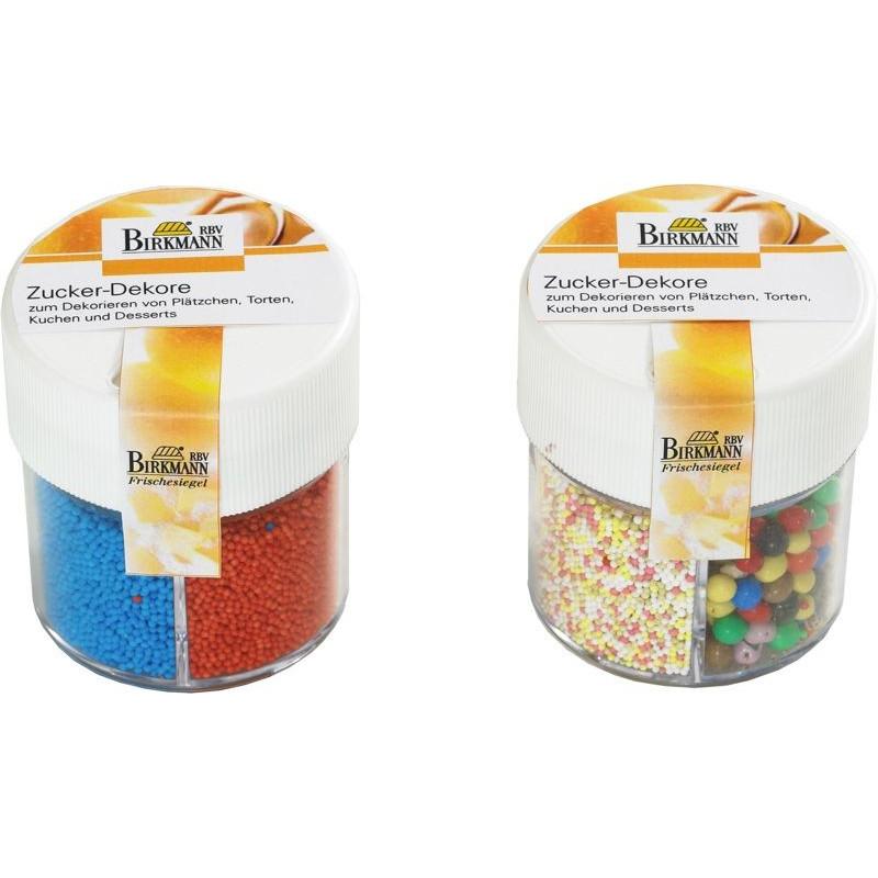 Surtido perlas multicolor: mini rojas, mini azul, mini multicolor, maxi multicolor.