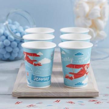 Vasos de fiesta Rayas Azul Pastel [CLONE]