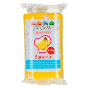 Fondant sabor plátano 250 gr Funcakes