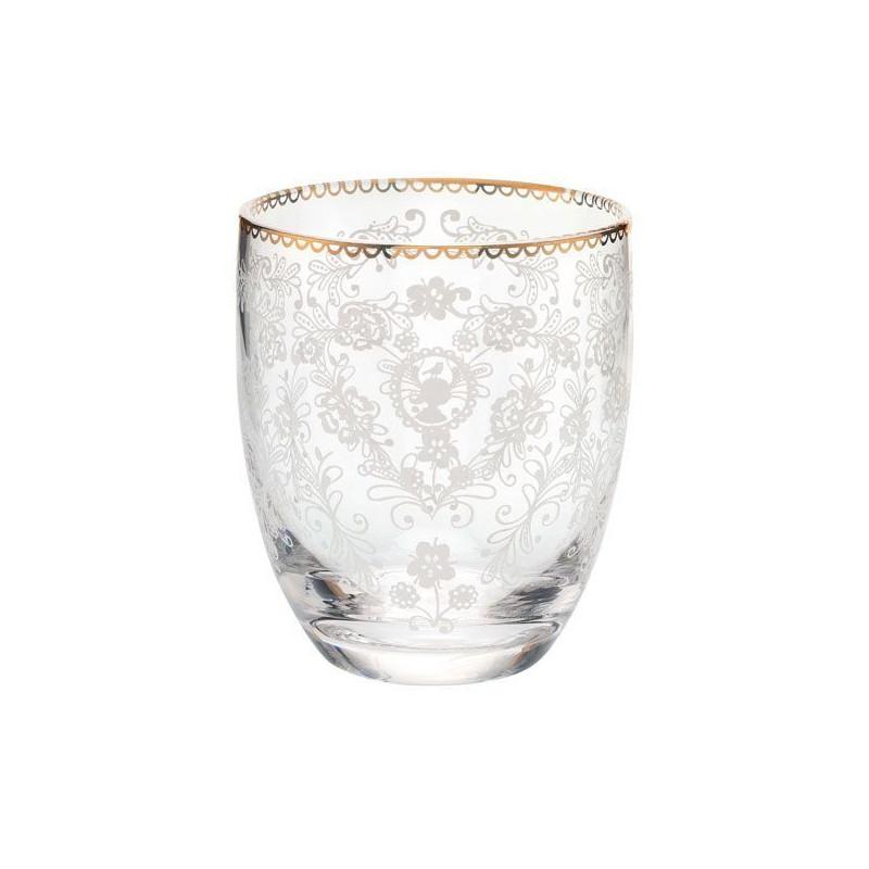 Vaso de cristal labrado Floral Pip Studio