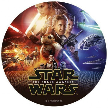 Papel de azúcar 20 cm Star Wars