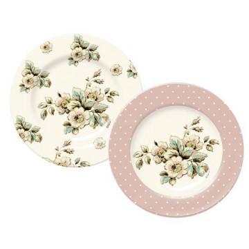 Pack de 2 platos de postre Cottage Flower Katie Alice