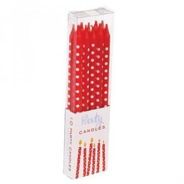 Pack de 10 Velas Lunares Rojo