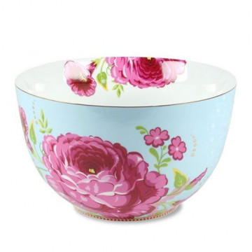 Ensaladera 23cm Floral Azul Pip Studio