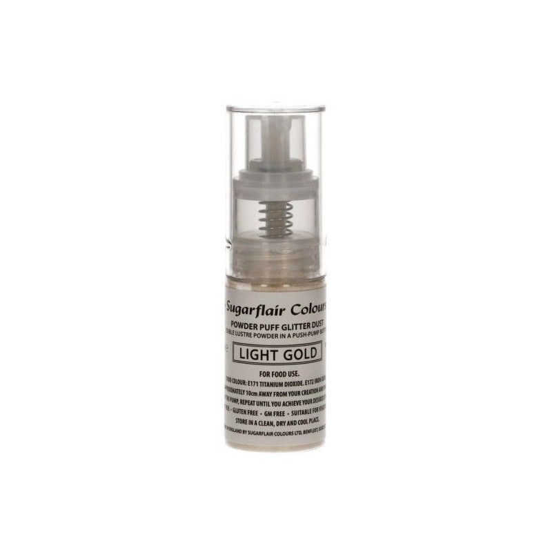 Spray de purpurina Oro Claro Light Gold Sugarflair
