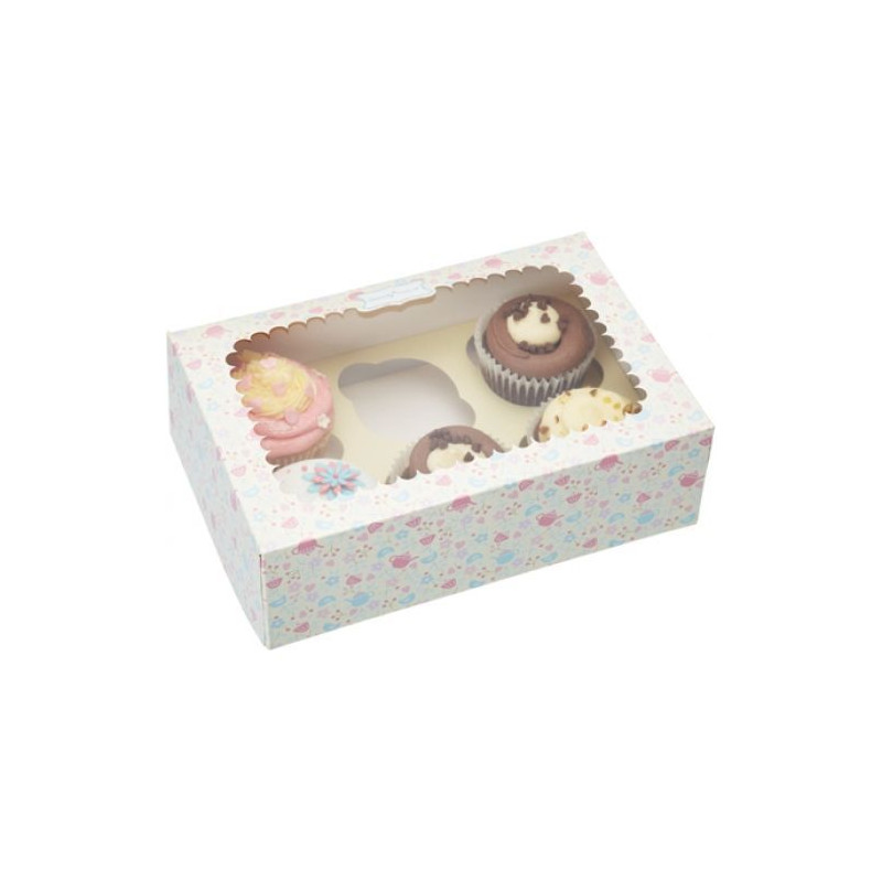 Cajas, pack 2 cajas para 6 cupcakes Sweetly does it