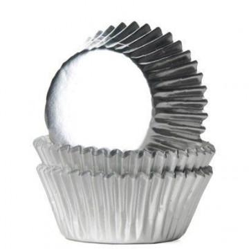 Cápsulas de mini cupcakes Plata Metalizado House Of Marie