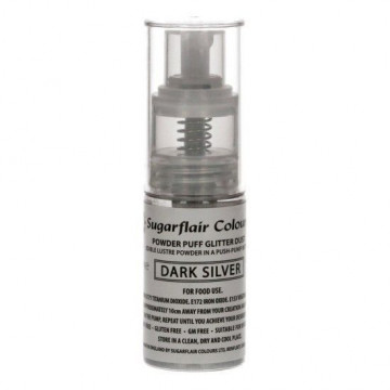Spray de purpurina Plata Claro Light Silver Sugarflair