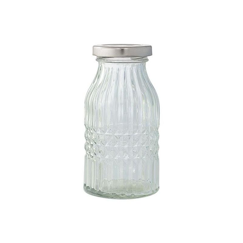 Botella de cristal labrado mediano Green Gate
