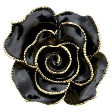 Broche Rosa Negra y Oro Servilletero Green Gate