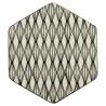 Bandeja hexagonal de cerámica Rombos Green Gate