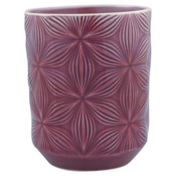 Vaso de cerámica labrado Kallia Plum Green Gate