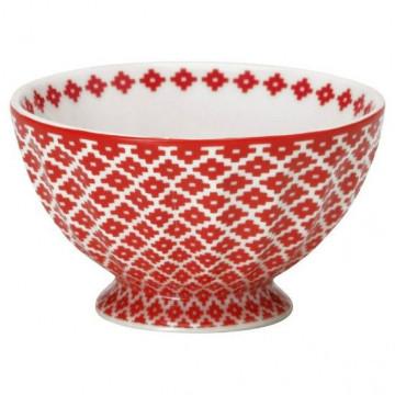 Bol de cerámica pequeño Judy Red Green Gate