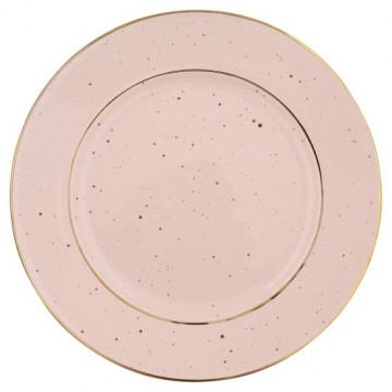 Plato de cerámica de 20 cm Pale Pink Gold Rim Green Gate