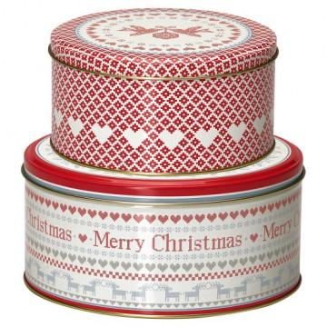 Pack 2 cajas de lata December Red Green Gate