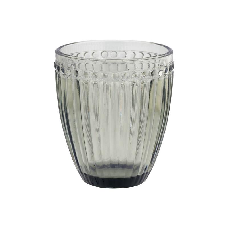 Vaso de cristal labrado Gris Alexa Grey Green Gate