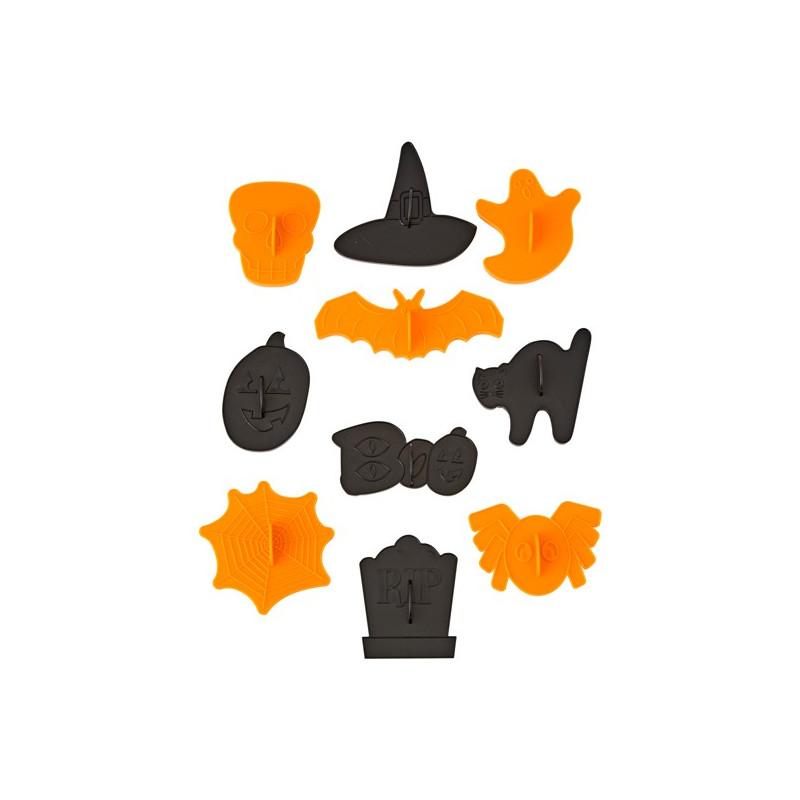 Pack de 10 Cortantes con marcador Halloween