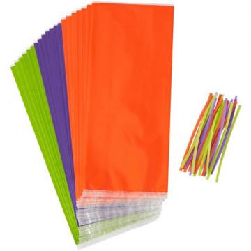 Pack de 20 Bolsas Naranja, Verde y Violeta Wilton
