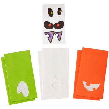 Pack de 6 Bolsas de Papel con pegatinas Halloween Wilton
