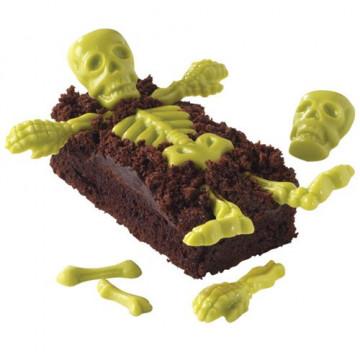 Molde para chocolate Esqueleto Halloween Wilton