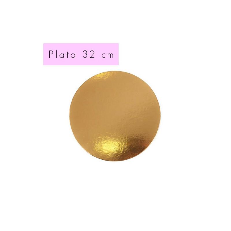 Bandeja plato oro 32 cm