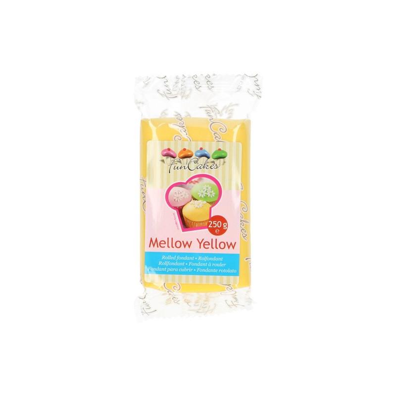 Fondant Amarillo Mellow Yellow Funcakes 250gr
