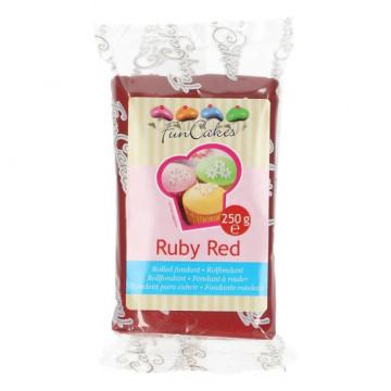 Fondant rojo rubí Funcakes 250 gr