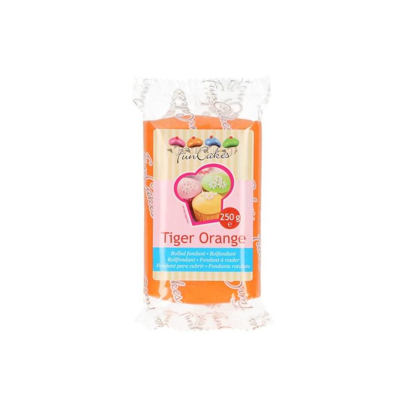 Fondant naranja Tiger Orange Funcake 250gr