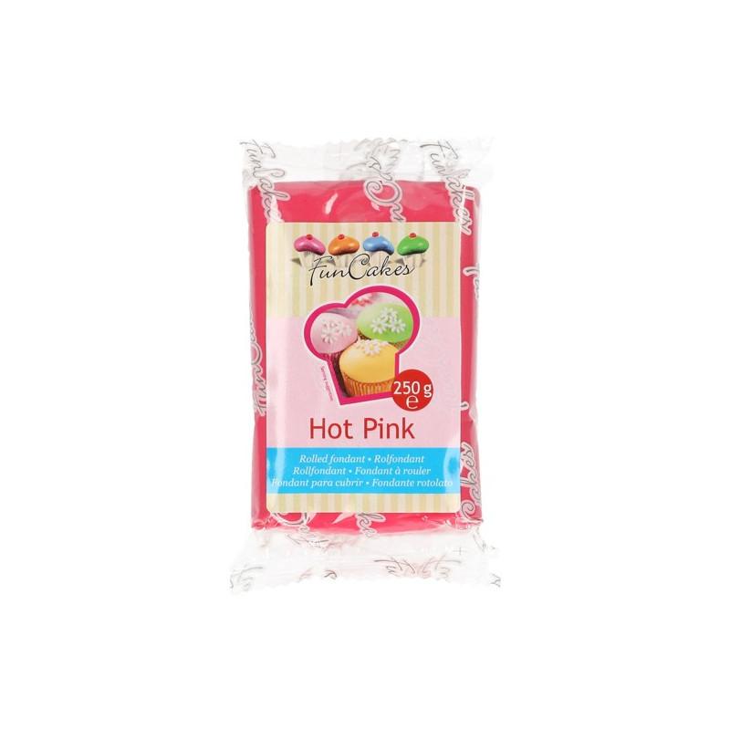 Fondant Rosa Fucsia Hot Pink Funcakes 250 gr