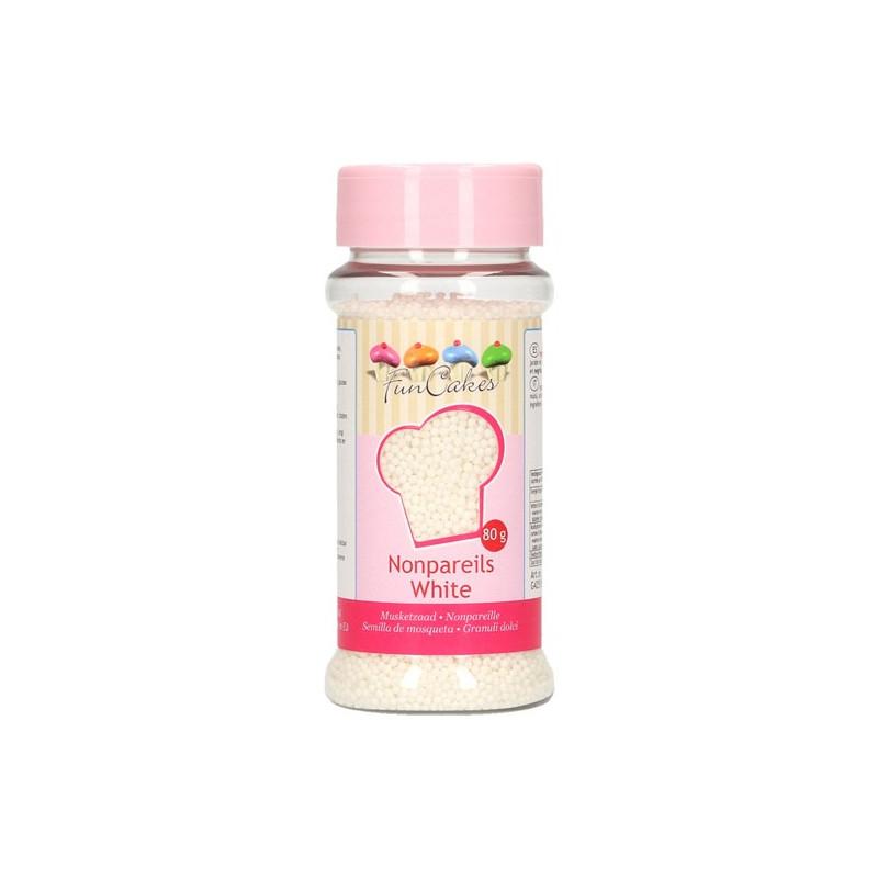 Sprinkles Mini Perlitas Nonpareils Blanco Funcakes