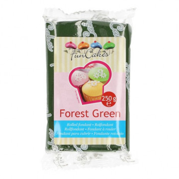 Fondant verde bosque Forest Green Funcakes 250 gr