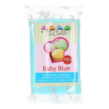 Fondant azul bebe Baby Blue Funcakes 250 gramos