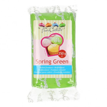 Fondant Verde Primavera Spring Green Funcakes 250gr